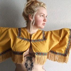 Native American cropped poncho